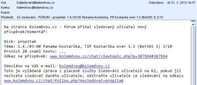 Sledování uživatelů/tipů K2 1