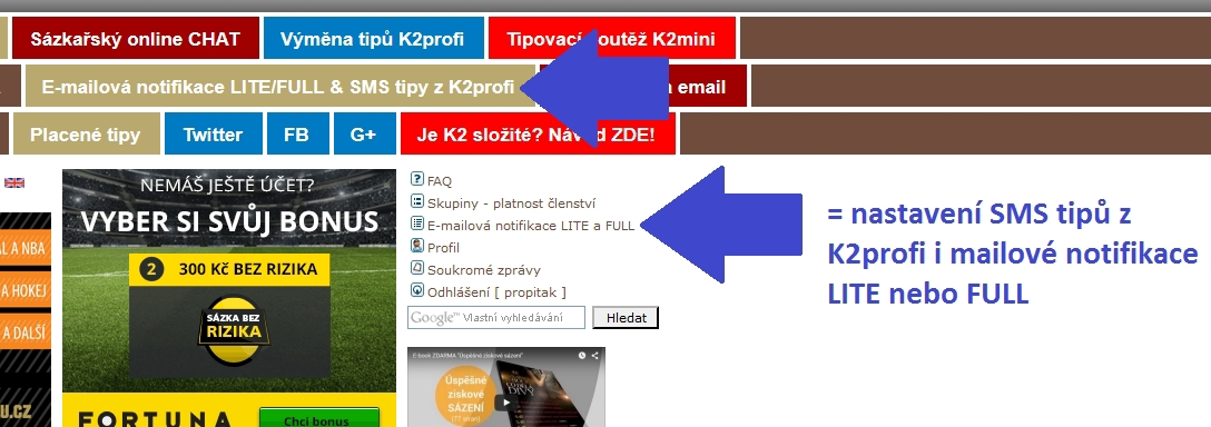 SMS tipy z K2profi - 1